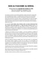 Non au fascisme au Brésil