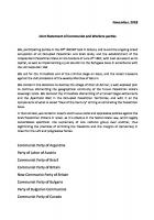 Joint Statement of Communist and Workers parties on Palestine - November 29th