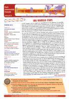LRI - Février 2013 - Une nouvelle étape