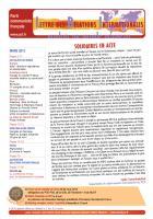 LRI - Mars 2013 - Solidaires en acte