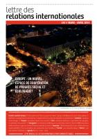 Lettre des relations internationales (LRI) - mars avril 2014