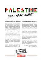 tract : Reconnaissance de l'État palestinien : «  C'est la voix du droit qui l'a emporté »