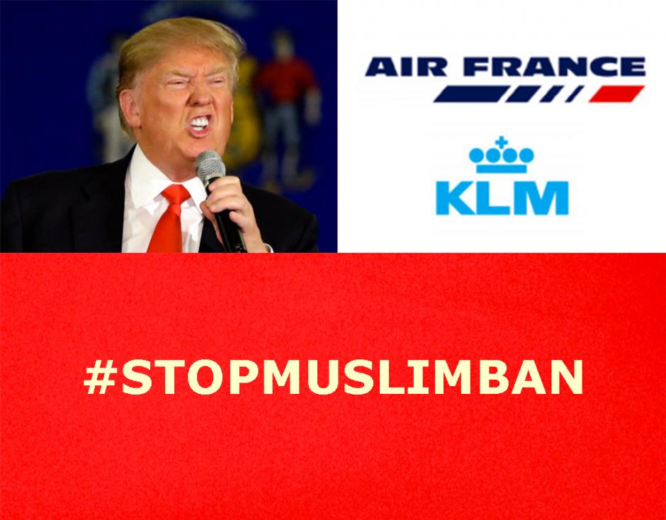 Décret «anti-musulman» de Trump: Air-France KLM ne doit pas être l'instrument d'une politique infâme