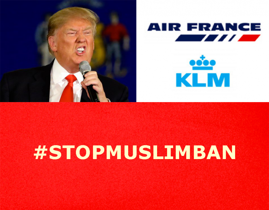 Trump's anti-Muslim executive order: Air France KLM must not be the instrument of this despicable policy.