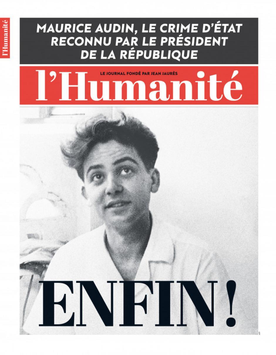 Maurice Audin : une victoire pour la justice, la démocratie, la vérité