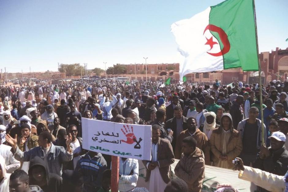 ALGÉRIE :  Solidarité avec la lutte de In Salah contre l'exploitation du gaz de schiste (#PCF)