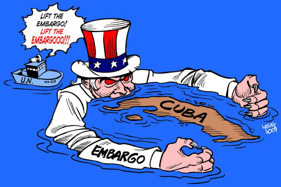 pétition pour la levée immédiate du blocus imposé au peuple cubain