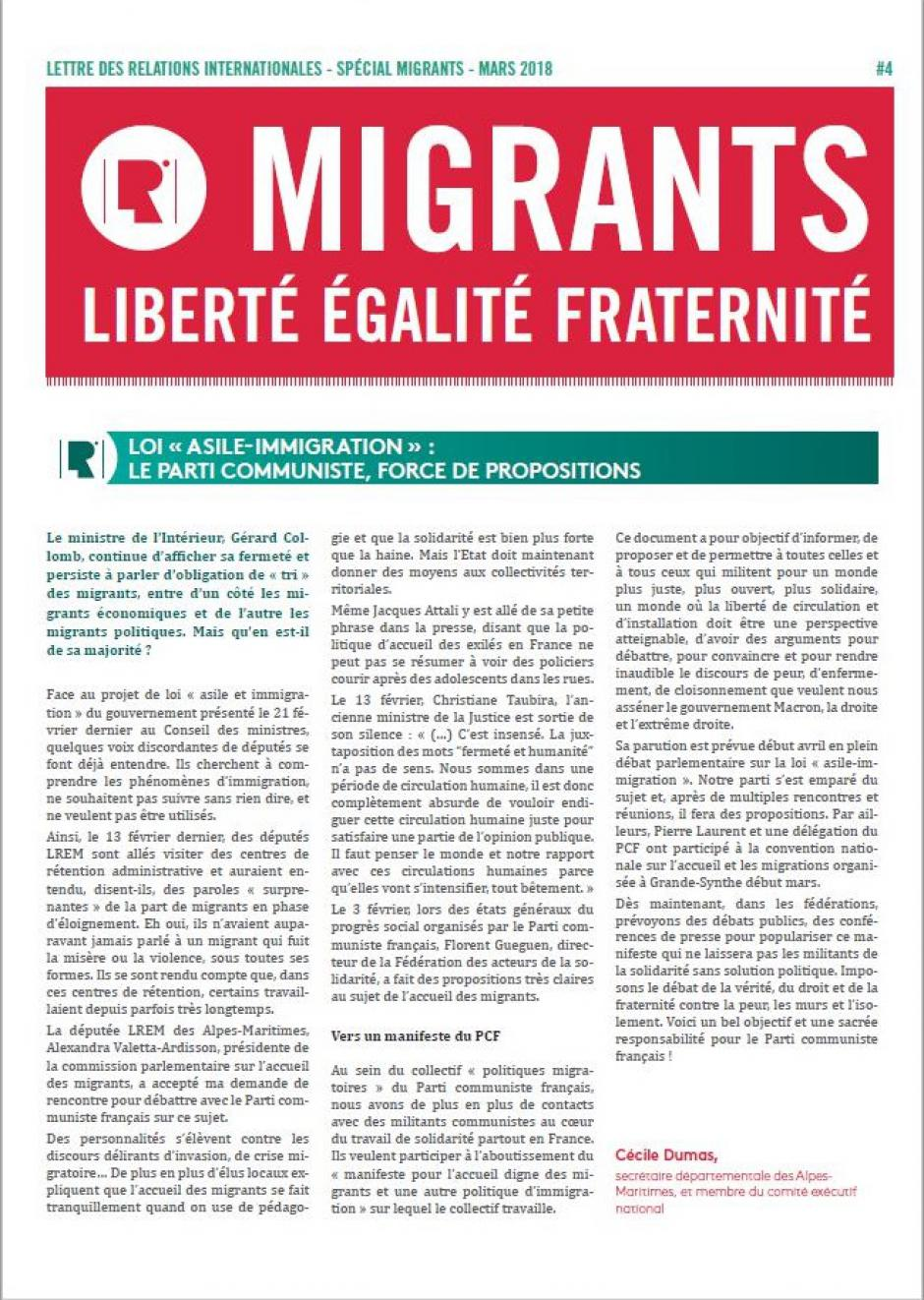 Migrants: Liberté Egalité Fraternité #4