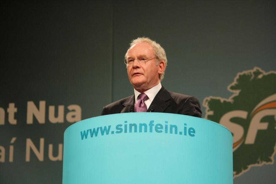 Martin Mc Guinness, Historical leader of Sinn Féin, determined and passionate (Pierre Laurent)
