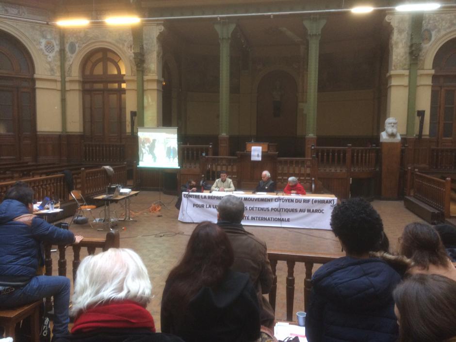 Meeting de solidarité avec le mouvement populaire rifain - intervention de Raphaëlle Primet (9 décembre 2017)