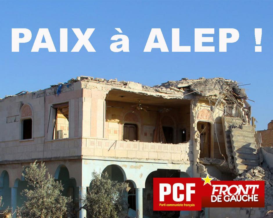Alep/Syrie: Pour un cessez-le-feu immédiat et la mise en œuvre des accords de Genève