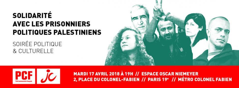 Solidarité avec les prisonniers politiques palestiniens - Soirée politique et culturelle